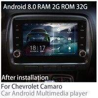 ZaiXi 2 din Car multimedia Android 8.0 Car Radio GPS player For Chevrolet Camaro 2010~2015 Bluetooth RAM 2G ROM 32G