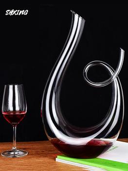 1500ml kryształ wysokiej jakości 6-shaped karafka do wina pudełko harfa łabędź karafka kreatywny wino Separator pudełko na wino tanie i dobre opinie OLOEY CN (pochodzenie) KRYSZTAŁ Ekologiczne shop012020819010 CE UE Crystal Solid Color 1000ml 1200ml 1500ml 1800ml 2000ml