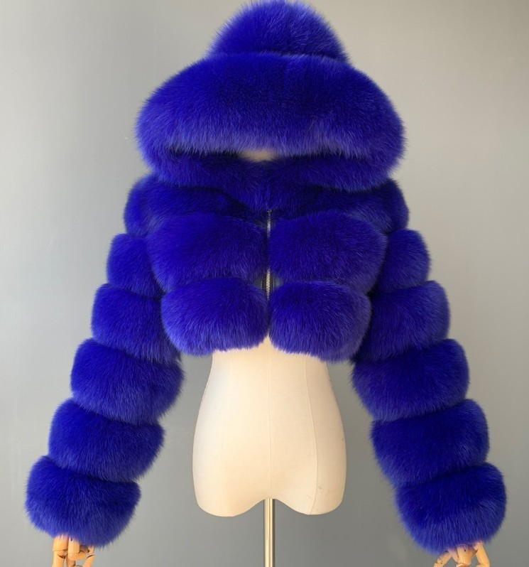 H9a9327098bdd4c2f8c93783704ede182R GAMPORL Fashion Winter High Quality Faux Fox Fur Coat Women Vintage Long Sleeve With Cap Slim Short Jackets Furry Coat Femme