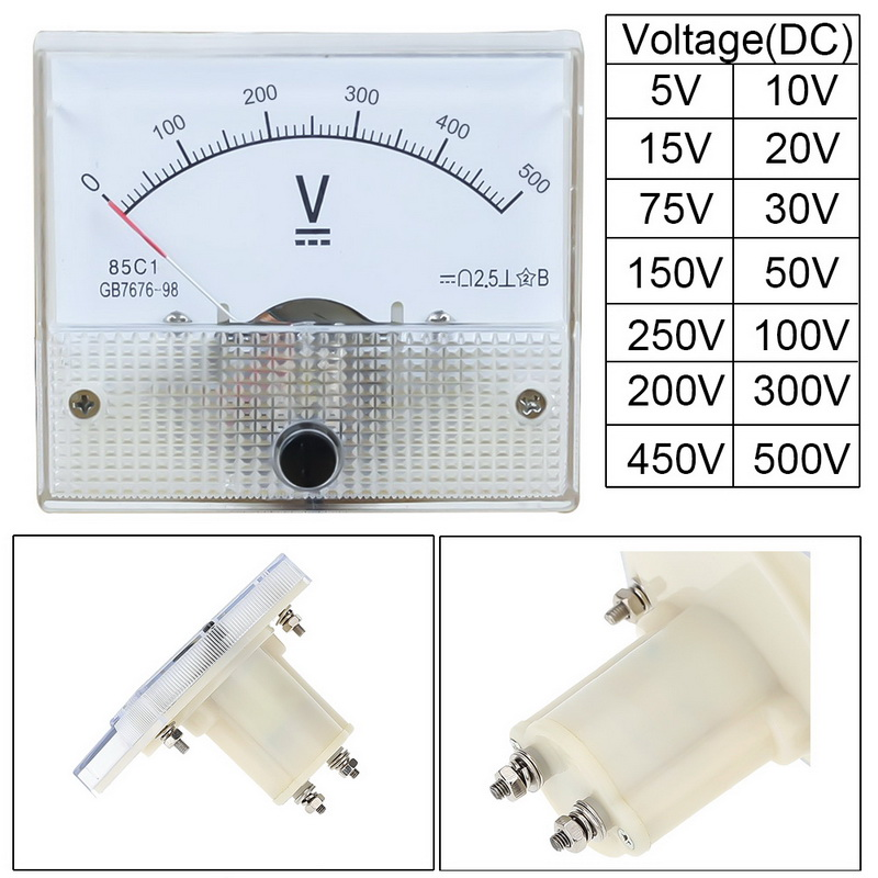 2020 вольтметр с аналоговой панелью, вольтметр, измеритель напряжения 85C1 5 в 10 в 15 в 20 в 30 в 50 в 100 В 200 в 300 В, механические измерители напряжения