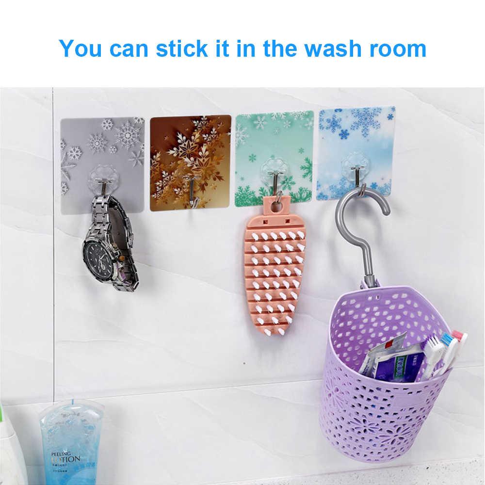 透明付箋マウントハンガーフック強粘着フック吸引カップ吸盤痕跡壁フック浴室キッチンアクセサリー