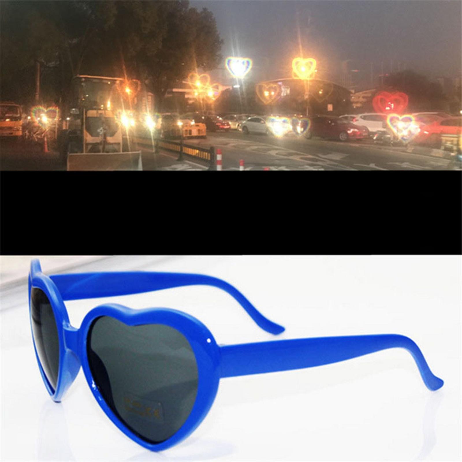 Red Love Heart Shaped Glasses Sunglasses For Women Man Vintage Cat Eye Style Retro Glasses Heart Effect Diffraction Glasses