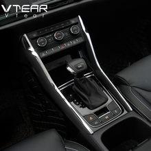 Vtear For Skoda Kodiaq wewnętrzny profil konsola środkowa sterowanie stylizacja samochodu chromowana ozdoba wykończenia akcesoria części 2017-2019