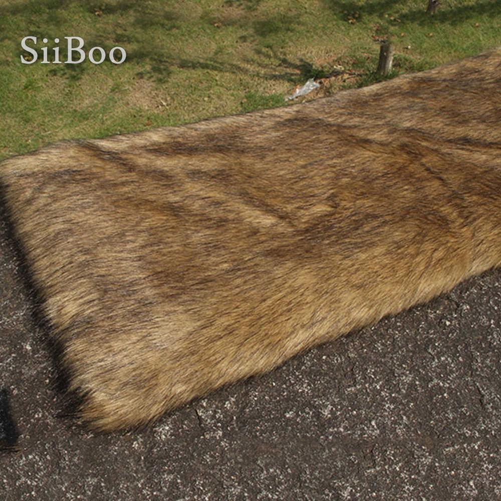 Braun 4cm plüsch faux pelz stoff für winter mantel weste bühne cosplay schwarz top gefärbt pelz stoff tissue DIY 170*50cm 1pc SP5607
