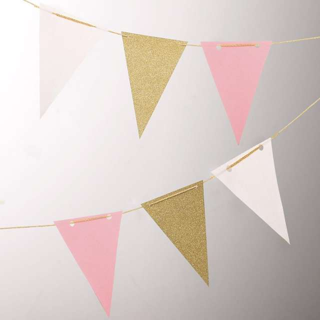 Paper Flag Garland for Party Decoration