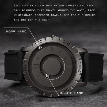 Магнитные мужские часы с резиновым ремешком Eutour