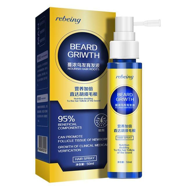 Men Beard Growth Essence  Enhancer Organic Beard Wax Balm Avoid Beard Natural Hair Loss Products Leave-In Conditioner Groomed Gr 2