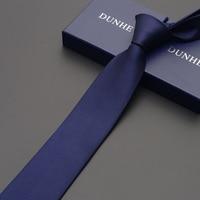 High Quality 2019 New Fashion Ties Men Business 7cm Checkered Silk Tie Wedding Ties for men Designers Brand Blue Dark Grain