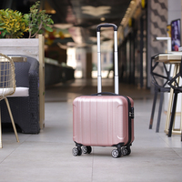 Fashion 17 inch caster small suitcase ladies 14 inch mini children Boarding chassis trolley case password suitcase cosmetic box