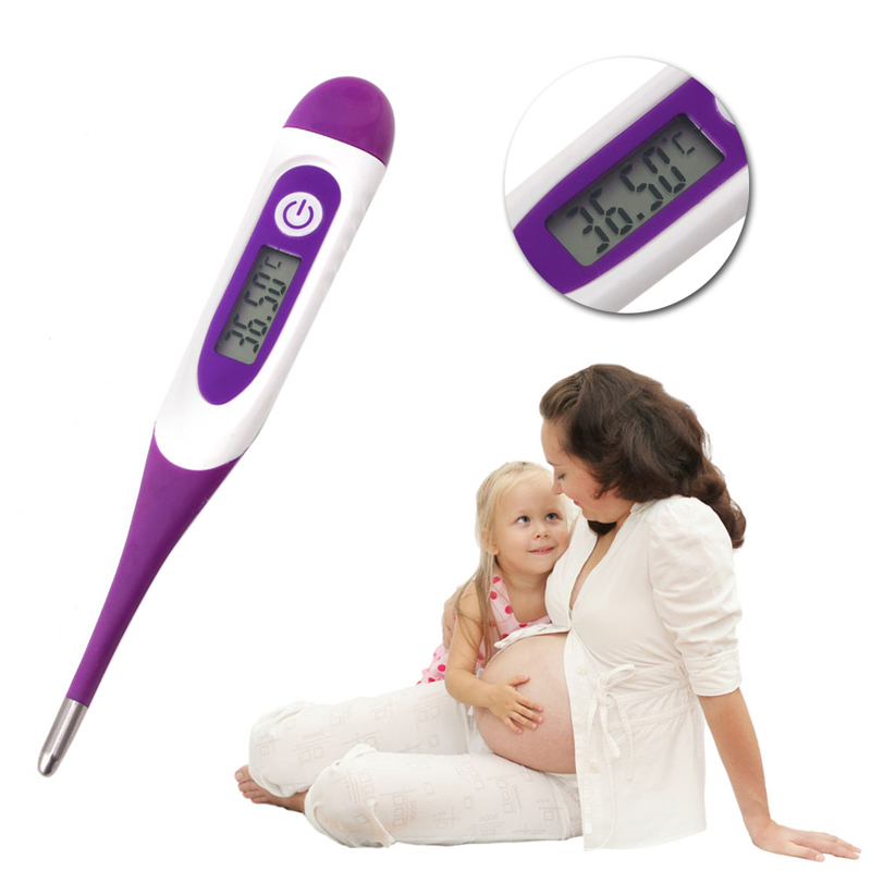 Women LED Digital Basal Measuring Ovulation Thermometer Probe Easy Get Pregnant