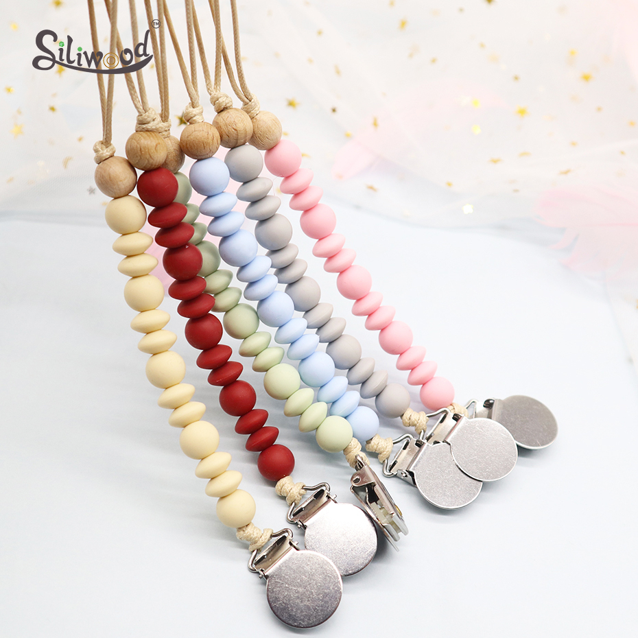 Baby Silicone Pacifier Clip Baby Accessories Soother Holder Chain Infant Teething Toys BPA Free Attache Sucette Dummy Clips