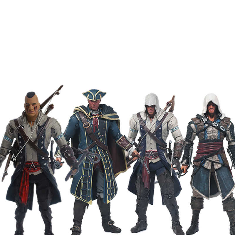 15cm Creed serisi 4 Connor Haytham Edward Kenway Mohawk Action Figure koleksiyon Model oyuncak