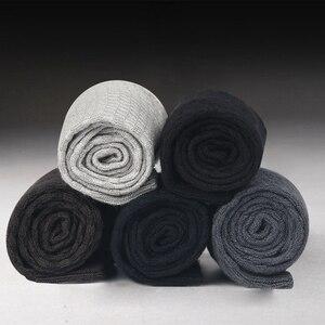 Image 2 - Calcetines de fibra de bambú para hombre, calcetín negro, largo, de negocios, talla grande, 43 a 46, 2020