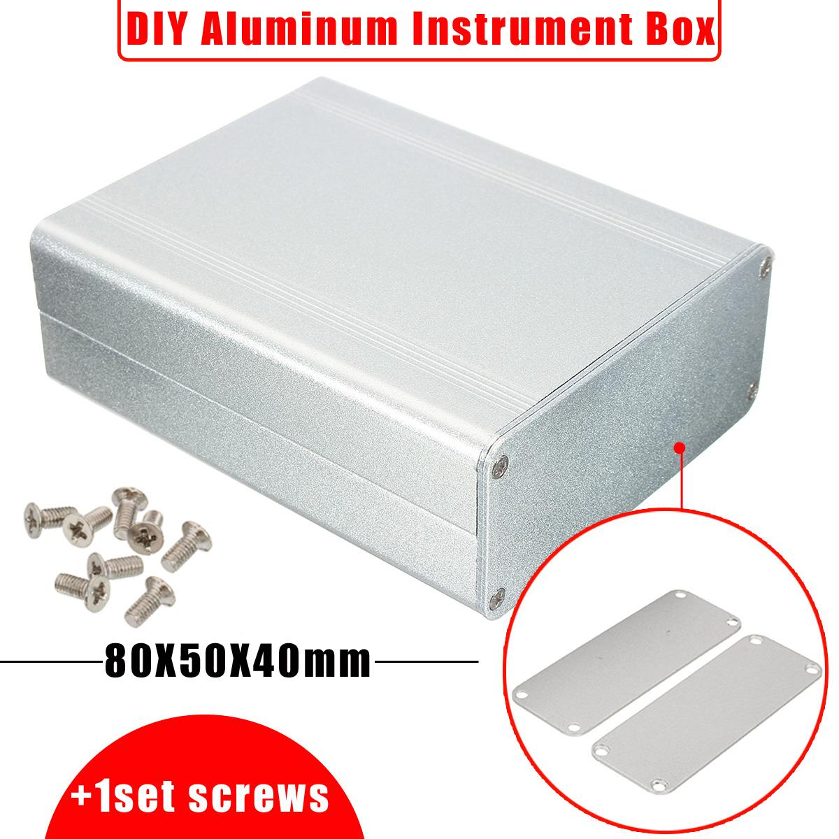 Portable Splitted DIY Extruded Aluminum Electronic Box Project Electronic DIY Enclousure Case DIY Tools Packaging Box