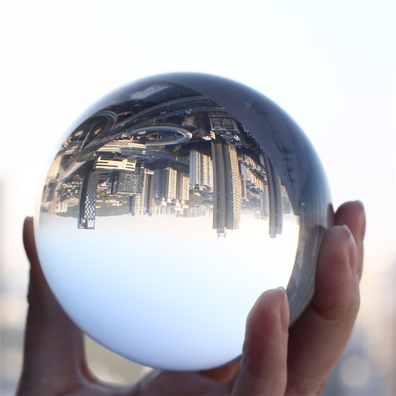 Sfera di cristallo di Vetro di Quarzo Trasparente Palla Feng Shui Trasparente di Colore Magia Naturale di Vetro Palle di Decorazione Accessori Per la Fotografia