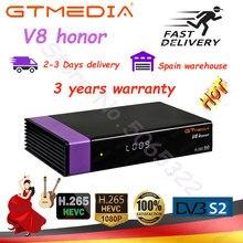Espanha armazém gtmedia v8 honra gtmedia v8x DVB-S2 recepoter satélite também gtmedia v7 s2x mesmo que v8 nova entrega rápida nenhum aplicativo
