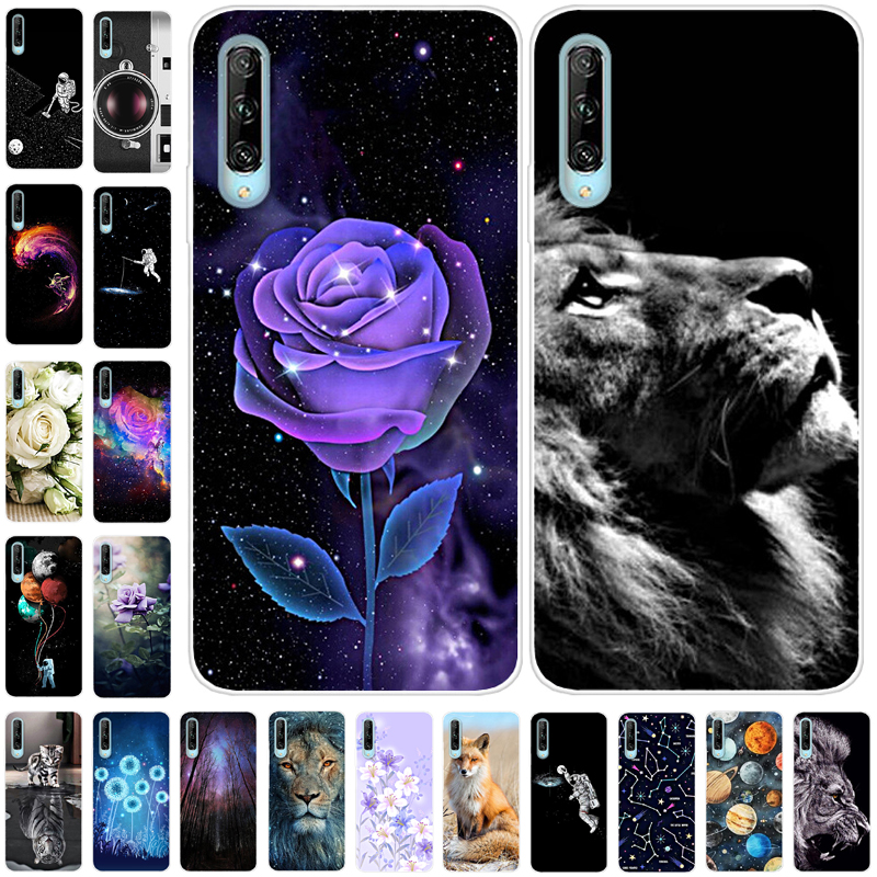 Phone Case For <font><b>Huawei</b></font> Y9s Cover TPU Soft Silicone <font><b>Fundas</b></font> For <font><b>Huawei</b></font> Y9s Case 6.59 inch Flower <font><b>2019</b></font> for <font><b>Huawei</b></font> <font><b>Y</b></font> 9S Y9 S STK-L21 image
