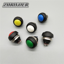цена на 6Pcs 12mm ON-OFF Waterproof Momentary/Self-reset Push Button Switch SPDT Power Start Button Switch 3A/125V
