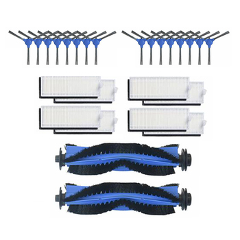 Side Brush Roller Brush HEPA Filter for Conga Robot 1090 Replacement Cleaning Robot Vacuum Cleaner Spare Parts hepa filter replace for neato botvac d70 d70e d75 d80 d85 vacuum cleaning robot
