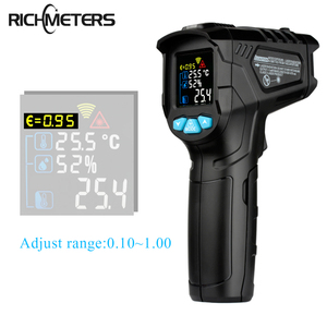 Image 1 - RICHMETERS 550PRO דיגיטלי מדחום אינפרא אדום לייזר termometro infrarojo Pyrometer גבוהה/נמוך אזעקה