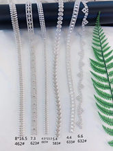 1 yard Rhinestone Chain Pearl Crystal Chain Sew On Trims Wedding Dress Costume Applique