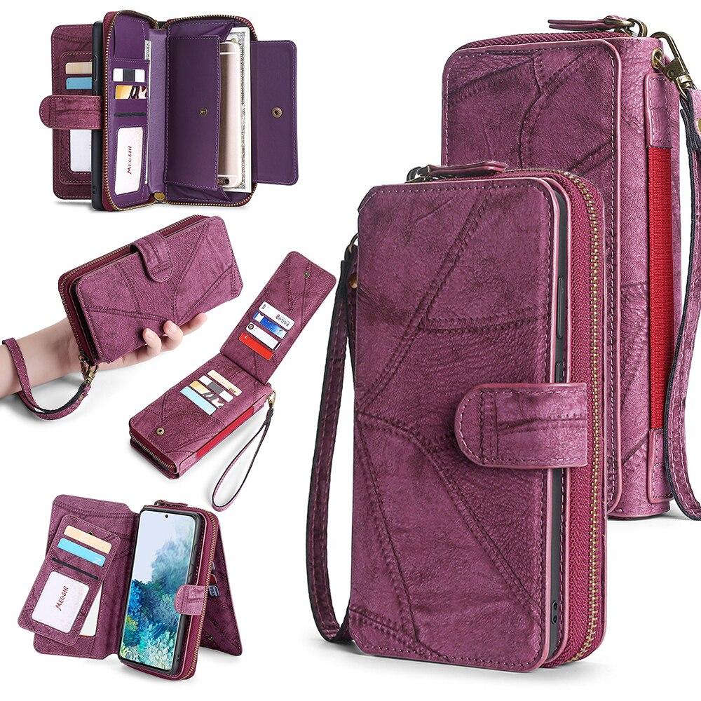 Portfel skórzany futerał na telefon iPhone 6 6s 7 8 Plus X Xs Xr XsMax 11 11Pro 11ProMax 12 magnetyczny portfel na portfel biznesowy