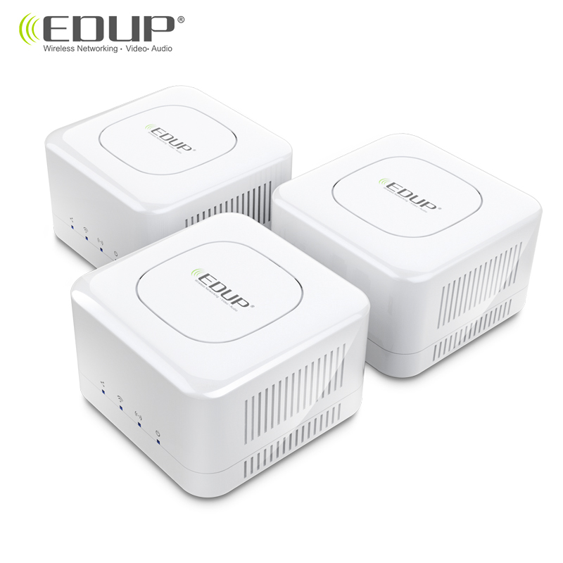 Edup Router Mesh WiFi 2.4 + 5GHz WiFi Router High Speed 2 Core CPU 512MB Gigabit Power 4 Signal Amplifiers for Smart Home image
