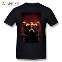 Lucifer T Shirt Morningstar T-Shirt Graphic Awesome Tee Short Sleeve 4xl 100 Cotton Male Basic Tshirt