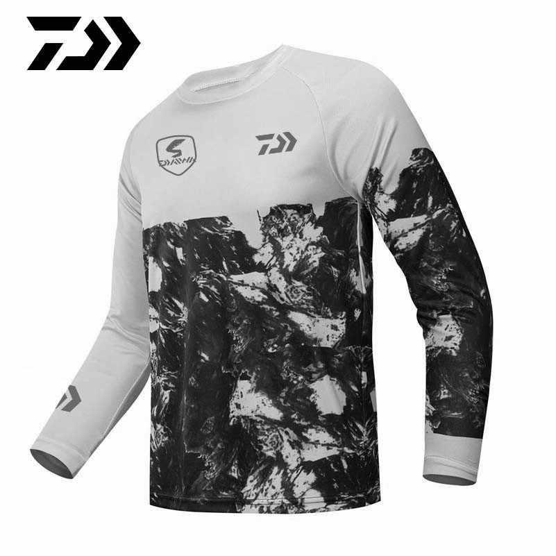 Multicolor Hombre FISHIKII M Primavera//Verano Temporada 2020 20/% Licra Camiseta Manga Larga Solar Anti-UV Surf 80/% Poli/éster