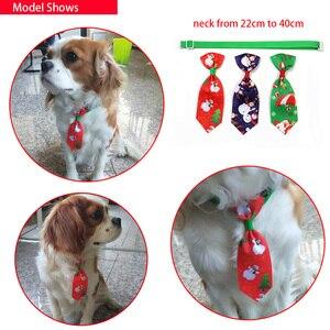 Image 4 - 100 шт., рождественские аксессуары для собак, ошейники для собак, кошек, галстуки бабочки, рождественские товары для домашних животных, ошейники для собак, аксессуары для домашних животных