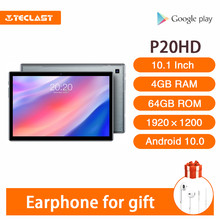 Venda quente teclast p20hd 10.1 Polegada comprimidos android 10.0 os 4gb ram 64gb rom 1920 × 1200 6000mah batary ai-speed-up
