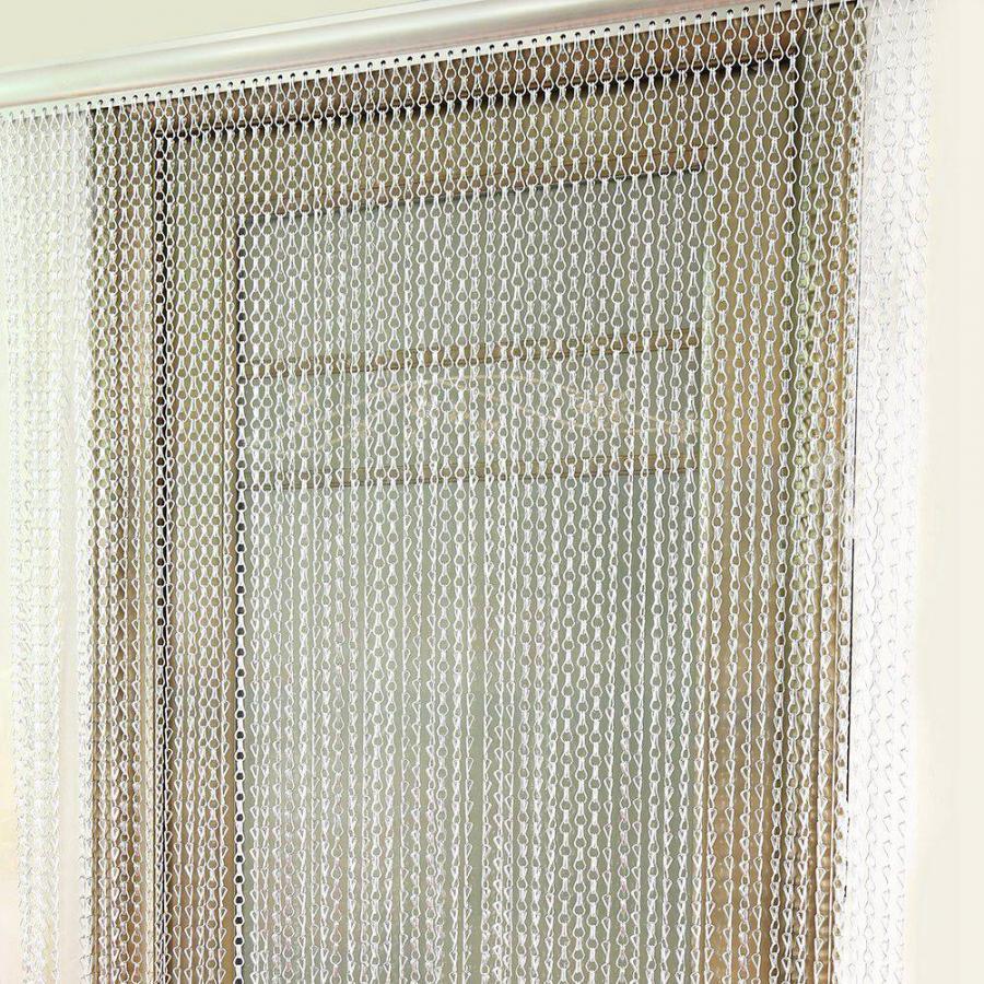 90*214,5 см цепочка, занавес, борьба с насекомыми мухами, украшение, дверь, экран, алюминиевый Металл|Занавеска|   | АлиЭкспресс