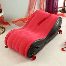 Sex-Furniture Couples Air-Cushion Sex-Toys Inflatable Red PVC for 440lb-Load EP Carrying-Capacity