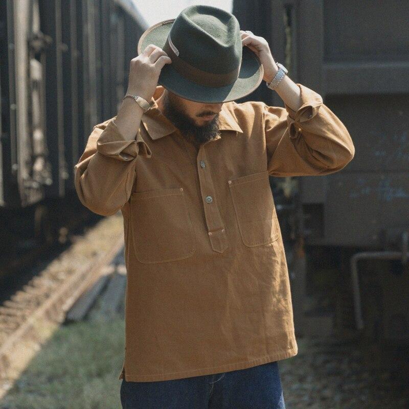 Bronson californie or Rush pull Vintage hommes toile/Denim vêtements de travail chemises