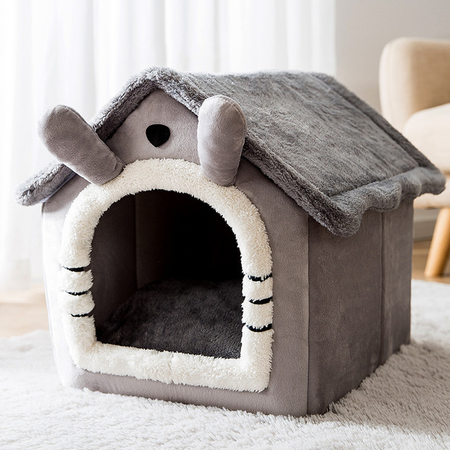 Removable Cat Bed House Kennel Nest Pet Nest Cat Rug Dog Bed Warm Dog House Cushion Sofa Bed Pet Products Cat House Pet Bed 1