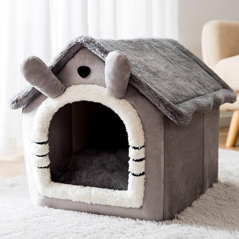 Съемный Кошка Кровать Дом Питомник Гнездо для домашних животных кошка ковер кровать собаки теплый дом собаки Диван-Кровать товары для дома...