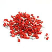 Red E2508 14AWG Cable Pre Insulate Ferrules Terminals Wiring Connectors 190Pcs Connectors     -
