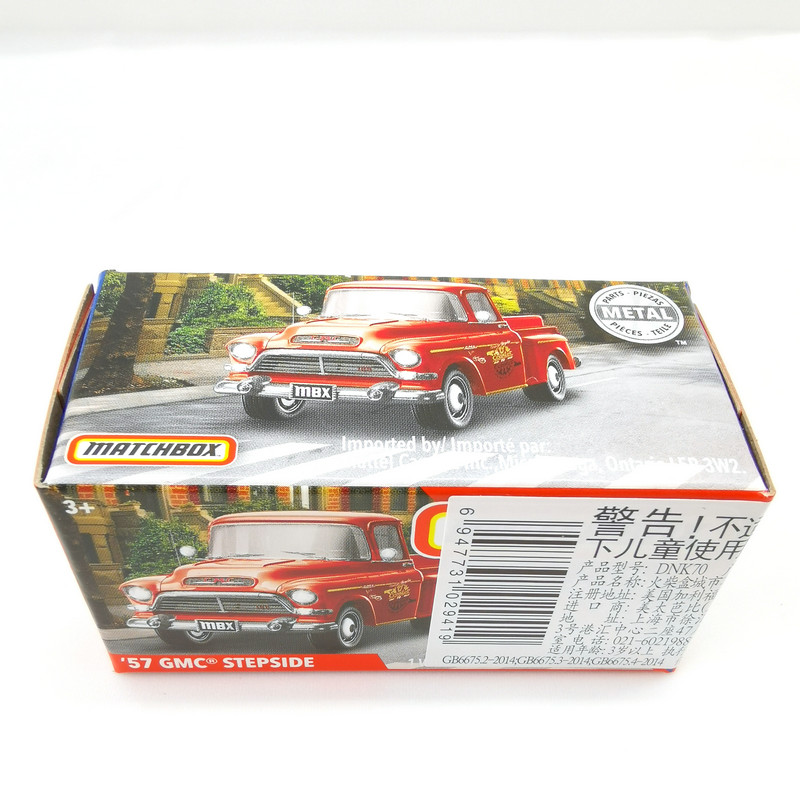 2019 Matchbox Cars 1:64 Car 57 GMC STEPSIDE Metal Diecast Alloy Model Car Toy Vehicles