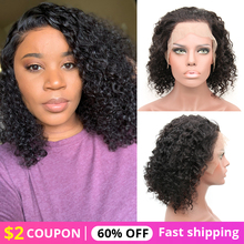 цена на Human Hair Wigs 150 Denty Lace Front Human Hair Wig  Short Human Hair Lace Wigs Curly Wig  Human Hair Curly Wigs For Black Women