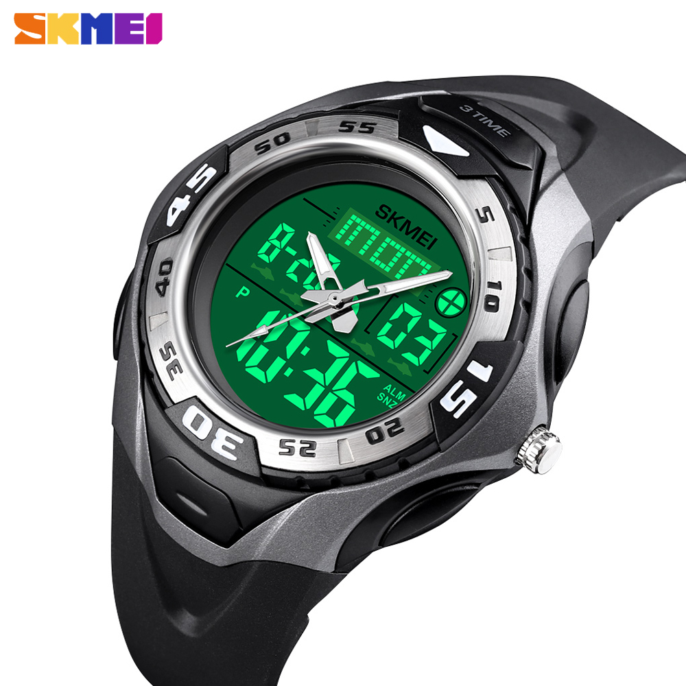 SKMEI Military Sport Quartz Men Watch Outdoor 5Bar Waterproof Digital Male Clock 3 Time Chronograph Wristwatch Relogio Masculino