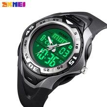 SKMEI wojskowy Sport zegarek kwarcowy mężczyźni Outdoor 5Bar wodoodporny cyfrowy męski zegar 3 czas zegarek na rękę Relogio Masculino