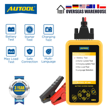 Autool BT460 Auto Batterij Tester 12V 24V Automotive Batterijen Analyze Meter Auto Quick Zwengelen Opladen Diagnostic Tool Pk KW600