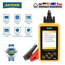 Autool bt460 testador de bateria carro 12v 24v baterias automotivas análise medidor carro rápido cranking carregamento ferramenta diagnóstico pk kw600