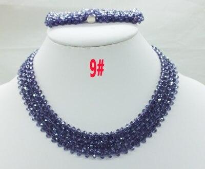 Новая цена-Африка, Нигерия, самый популярный ювелирный набор с кристаллами для невесты - Окраска металла: 9