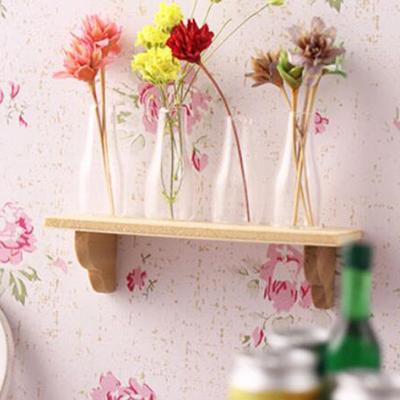 1:12 Doll House Wall Shelf Miniature Bathroom Accessory Mini Accessories For Dollhouse Wooden Wall Shelf