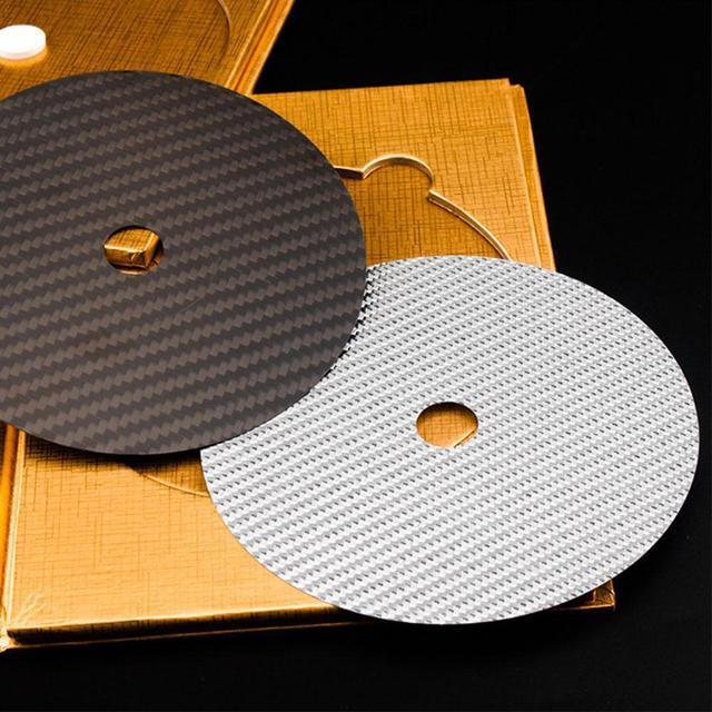 פחמן סיבי קלטת דיסק מחצלת בסיס כוונון כרית HiFi אודיו פטיפון מכונה אנטי הלם הלם בולם רטט