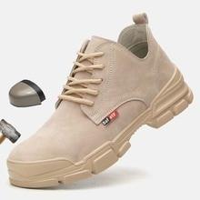 Мужские защитные ботинки, летние дышащие безопасные рабочие ботинки со стальным носком, с защитой от ударов, 2019