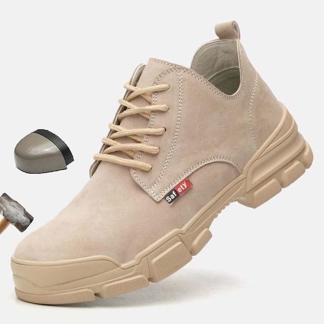 2019 אופנה גבר נעלי בטיחות הבוהן פלדה קיץ לנשימה קל לרסק הוכחת דקירה בטוח רתך עבודה בטיחות אתחול עבודה נעליים