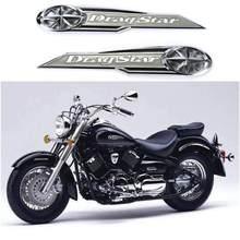 Yamaha – autocollant étoile gauche/droite de moto, Badge de réservoir de carburant en plastique ABS, autocollant 3D, accessoires de voiture