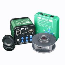 RELIFE, microscopio Ultra HD con cámara HDMI, microscopio Trinocular con USB de 3800W/4800W, cámara Industrial para reparación de teléfonos